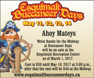 Wrist Bands for the Midway at Buccaneer Days On Sale