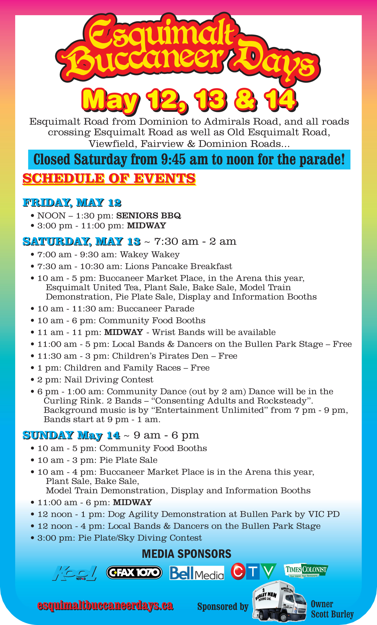 Schedule Of Events - Buccaneer Days